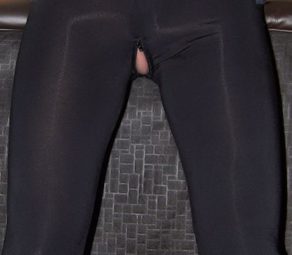 Leggings Ouvert m. Zip